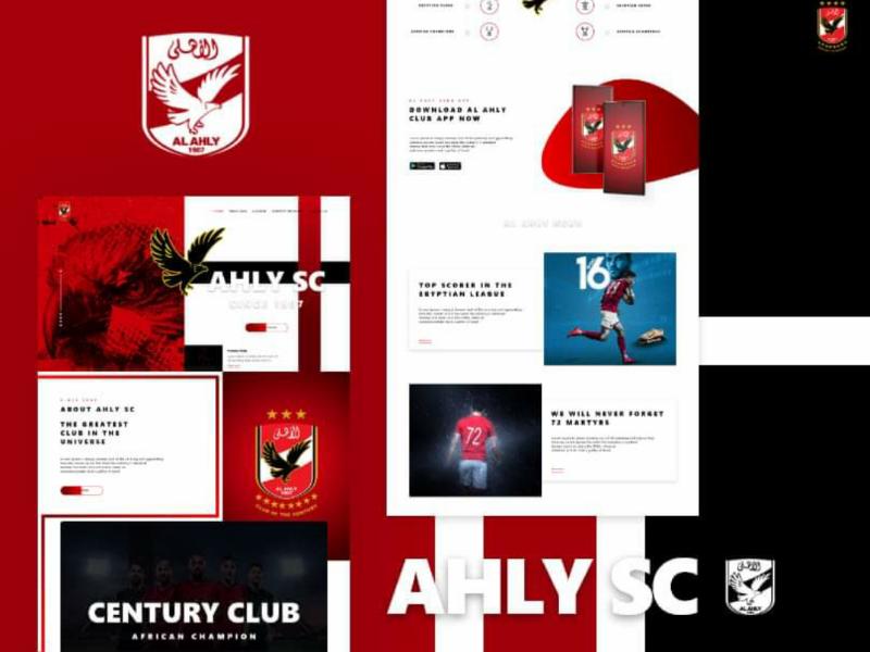 Ahly Club Website Re-Design ui design landing page sports creative website ux ui