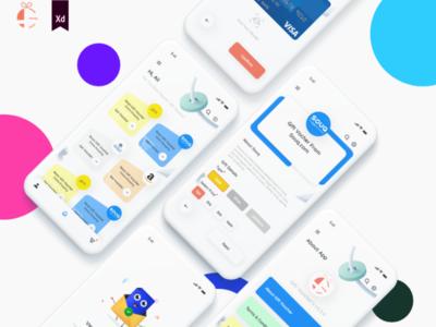 Gift Voucher's App Design creative ios android ui design app design adobe xd andriod app ux ui