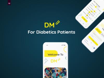 UI Design ForDM application For Diabetics Patients branding app design ios andriod adobe xd creative ui design app ux ui
