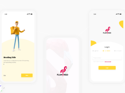 Flamingo App UI UX Design ui e-commerce app market android