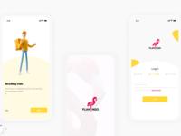 Flamingo App UI UX Design ui e-commerce app market android
