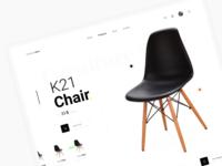 UI Design For Furniture Shop Website ui creative furniture e-commerce