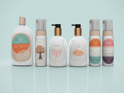 Packaging - Shea Butter Collection sea butter graphic  design brazil hand soap lotion package design package
