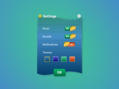 Daily UI #007: Fishkeeping Game Settings games app ui design dailyui