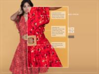 Daily UI #016: Pop-Up / Overlay dress clothing fashion illustration apparel ecommerce shop fashion typography ui design dailyui