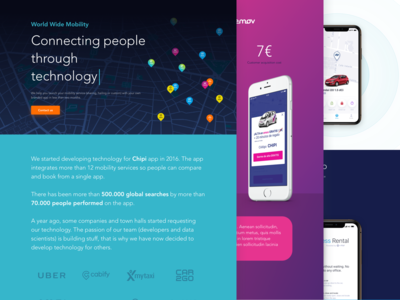 Chipi & World Wide Mobility corporate web designs
