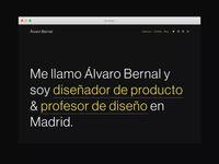 Personal website, portfolio 2020
