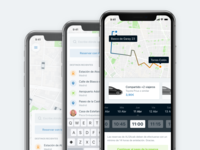 Ridesharing app, booking double slider & more explorations