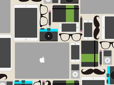 Hipster flat stuff