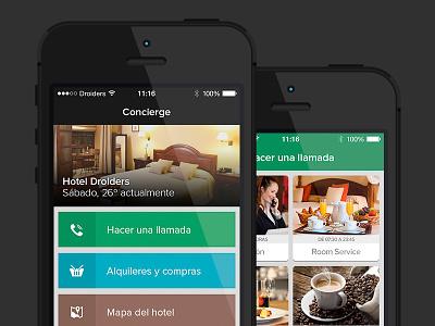 Concierge for iPhone concierge ios ios7 ios 7 houssing hotel administrative