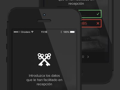 Concierge for iPhone, login process