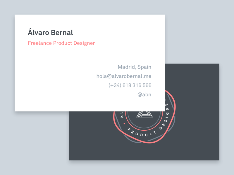 shot - Freelance Business Cards