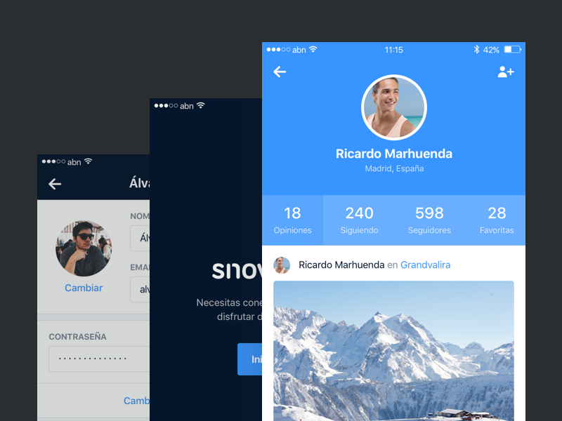 Snowcheck – Profiles comments profile register login grid tripadvisor foursquare snowforecast snow iphone ios snowcheck