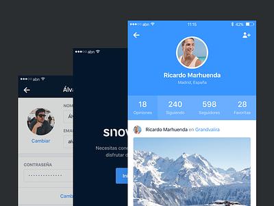 Snowcheck – Profiles comments profile register login grid tripadvisor foursquare snowforecast snow iphone ios snowcheck