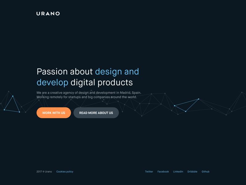Urano Studio – Provisional website landing provisional web web product design product consulting development agency digital agency design studio studio urano studio urano