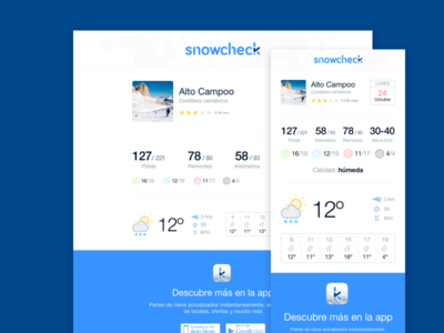 Snowcheck – Mailing templates ios app iphone app mobile app mobile android app ios iphone mail mails mailing snowcheck