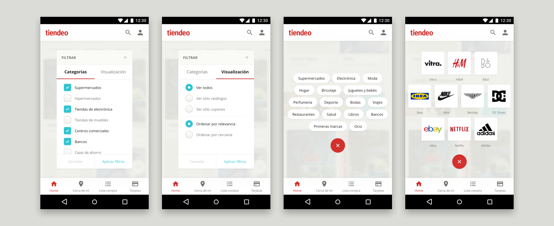 Tiendeo filters and discover mobile and tablet