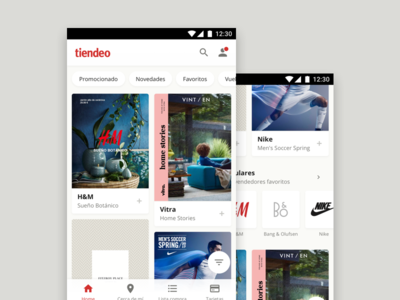 Tiendeo for Android, home