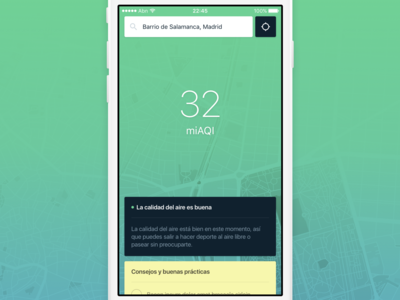 Air quality app color system