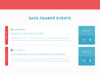 SaveTember Events