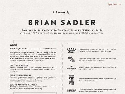 2013 Resume Style By Alpaca Design Co Dribbble