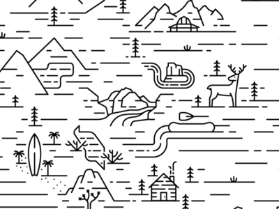 Editorial Map line art vacation travel icon illustration editorial united states usa monoline line map