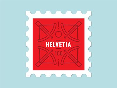 Dosage of Postage No. 3 illustration line art wilhelm tell william tell cross bow apple schweiz svizzero svizzer suisse switzerland helvetia mail stamp post postage stamp postage dosage of postage