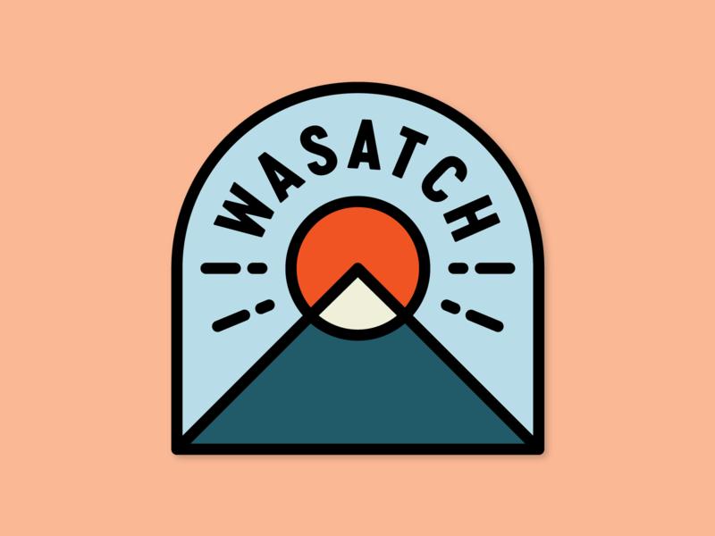 Wasatch logo icon line art line monoline badge sun canyon mountains mountain heber valley midway salt lake city utah wasatch