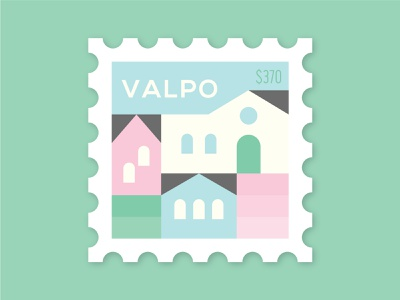 Dosage of Postage No. 8 latin buildings homes city town hill houses dosage of postage mail south america postage post stamp valparaiso valpo chile