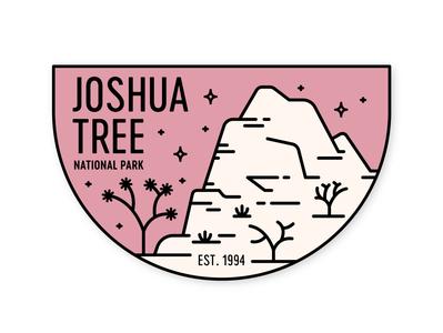 Joshua Tree california stars mojave desert patch sticker badge national park joshua tree