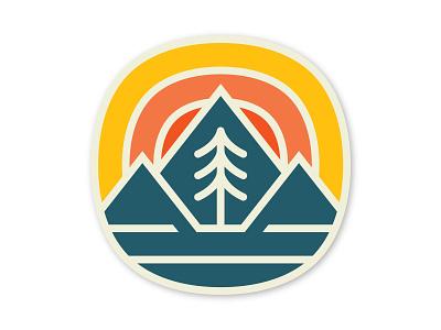 Fell Sticker utah line art monoline charm pines patch badge sticker pine tree pine range mountain madebyfell fell