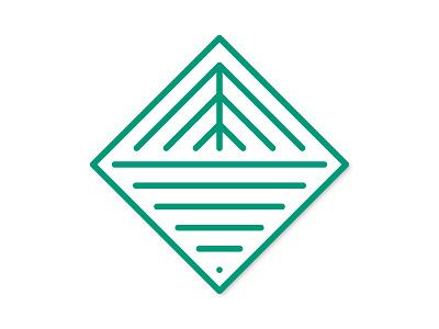 Holiday Outdoors pattern diamond tree logo badge lineart monoline line water lake mountain peak pine tree