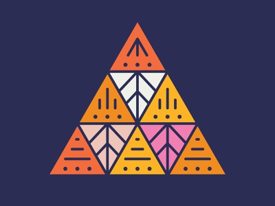Friday Fells No. 11 geometric line art triangle mountain fell fridayfells