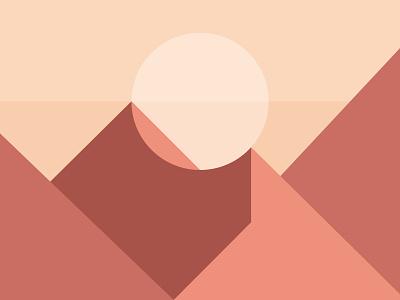 Friday Fells No. 13 geometric warm desert sun friday fells mountain fell
