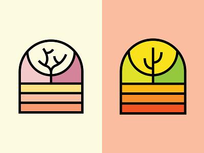 Joshua & Saguaro sticker monoline line art flora badge life vegetation plant desert cactus saguaro tree joshua