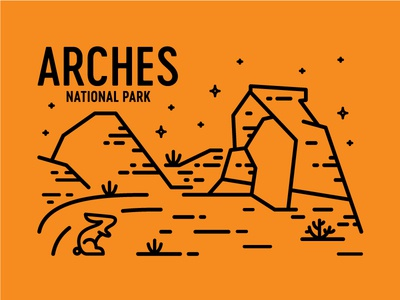 Arches rabbit red rock national park stars delicate arch arches