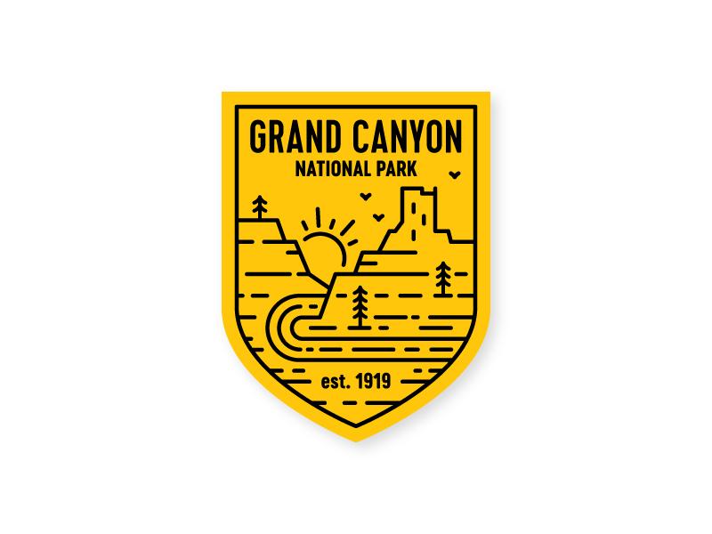 Grand Canyon Sticker grand canyon sticker badge southwest crest arizona