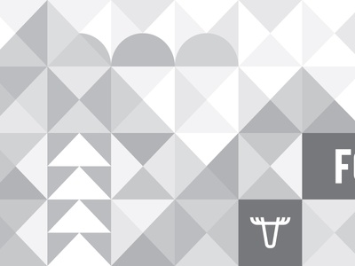 Fellscape tile monochrome grayscale sun moose tree pine mountain triangle geometric fell