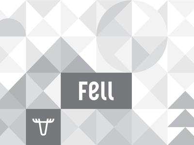 Fellscape tile monochrome grayscale sun moose tree pine mountain triangle geometric fell