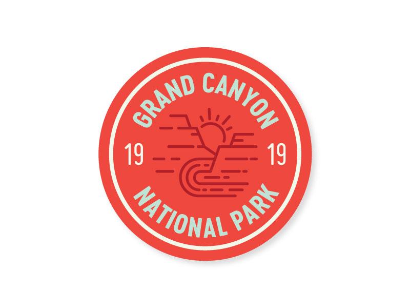 Grand canyon sticker circle