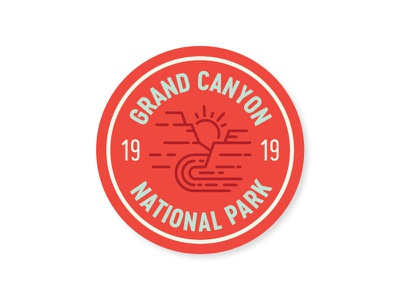 Grand Canyon Badge national park grand canyon southwest sticker line badge az arizona