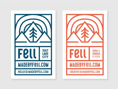 Fell Business Cards made by fell business card grid card squircle mountain pine fell