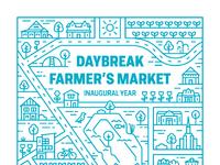 Daybreak farmer s market poster