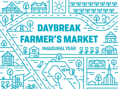 Daybreak Farmer's Market farmers market south jordan salt lake monoline map utah daybreak