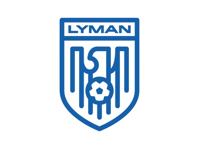 Lyman Soccer ball shield crest badge eagle football soccer lyman