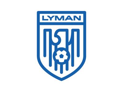 Lyman Soccer ball shield crest badge eagle football soccer lyman