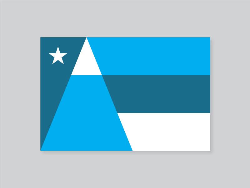 Salt Lake City Flag salt lake city sky lake snow salt stripes star mountain vexillology symbolic redesign flag