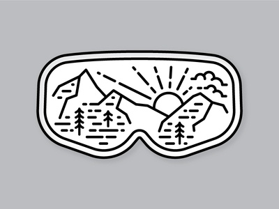 Ski Goggles sticker salt lake city utah alta goggles ski