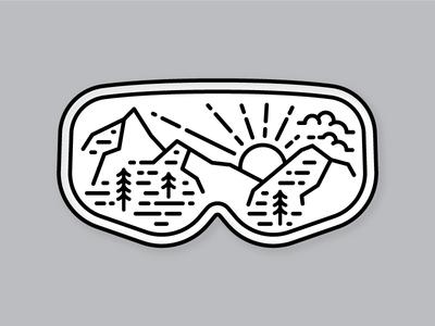 Ski Goggles sticker salt lake city utah alta goggles ski