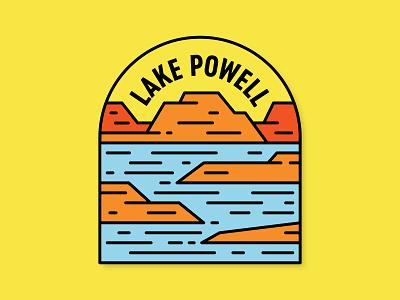 Lake Powell badge oasis desert red rock lake utah lake powell